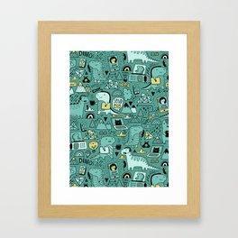 Communication Dinosaurs Framed Art Print