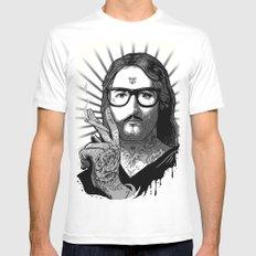 Jesus Bane #02 MEDIUM Mens Fitted Tee White