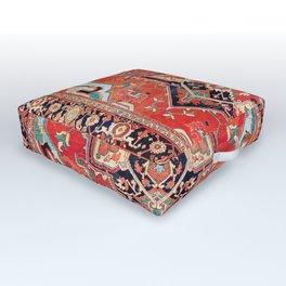 Heriz Azerbaijan Northwest Persian Rug Print Outdoor Floor Cushion