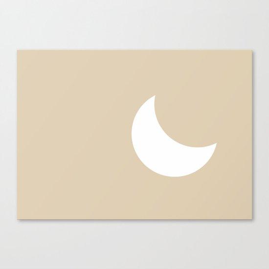 Moon #Minimal Canvas Print
