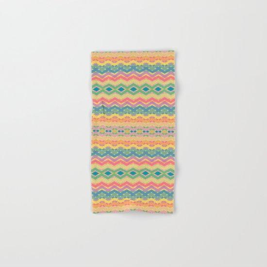 Summer-color Pattern Hand & Bath Towel