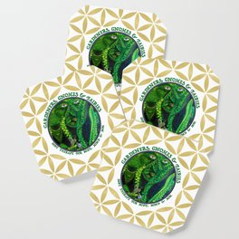 Gnome Fairy Golden Flower of Life Coaster