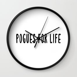 Pogues For Life - Outer Banks Wall Clock
