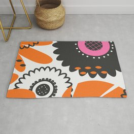 Flowers and beads Rug
