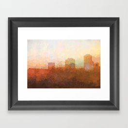 New Orleans, Louisiana Skyline - In the Clouds Framed Art Print