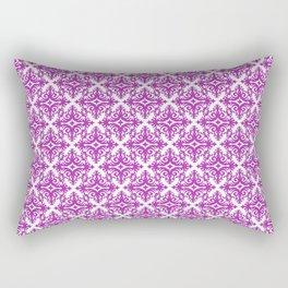 Damask (Purple & White Pattern) Rectangular Pillow