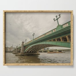 River Thames Bridge, London Serving Tray