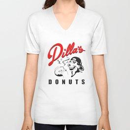 Dillas Donuts Delicious Vinyl Jay Dee J Dilla Hip Hop T-Shirts Unisex V-Neck