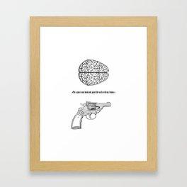 Put a gun... Framed Art Print