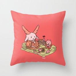 Bunnie Picni Throw Pillow