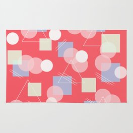 Shapes in Coral Space Rug