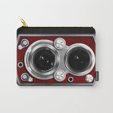 Vintage Camera Red Carry-All Pouch