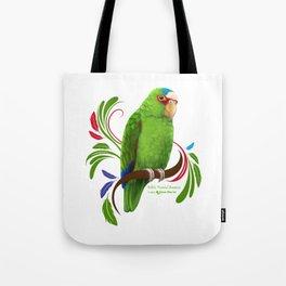 White Fronted Amazon Tote Bag
