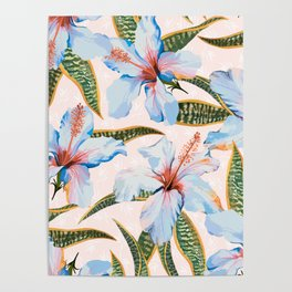 Tropical Pattern - Flowers and Plants Poster