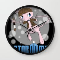mew Wall Clocks featuring Doctor Mew by Wuvwa