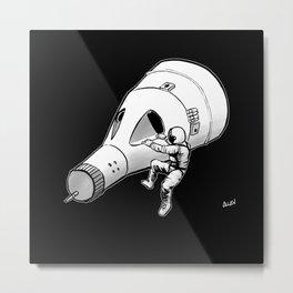 Lost (My Keys) In Space -- No Stars Metal Print