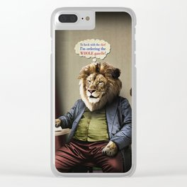 Hungry Lion Clear iPhone Case