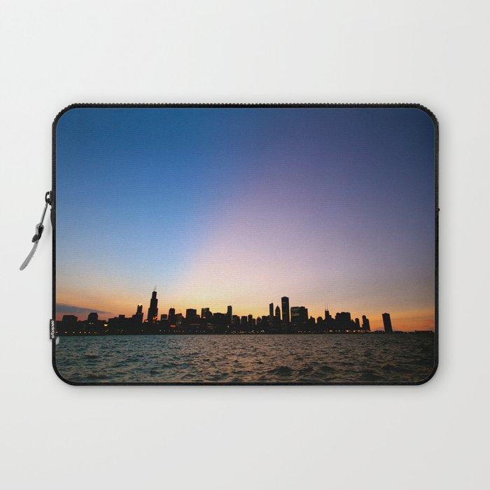 Chicago Skyline Silhouette Laptop Sleeve