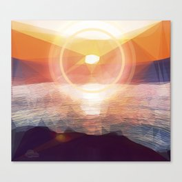 Winged Mediterranean Sunrise with circles and triangles Canvas Print