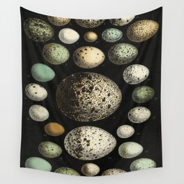 Naturalist Eggs Wall Tapestry