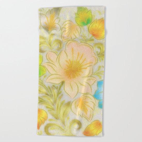Shabby flowers #8 Beach Towel