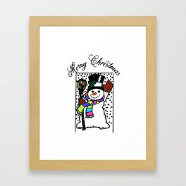 Snowman design Framed Art Print