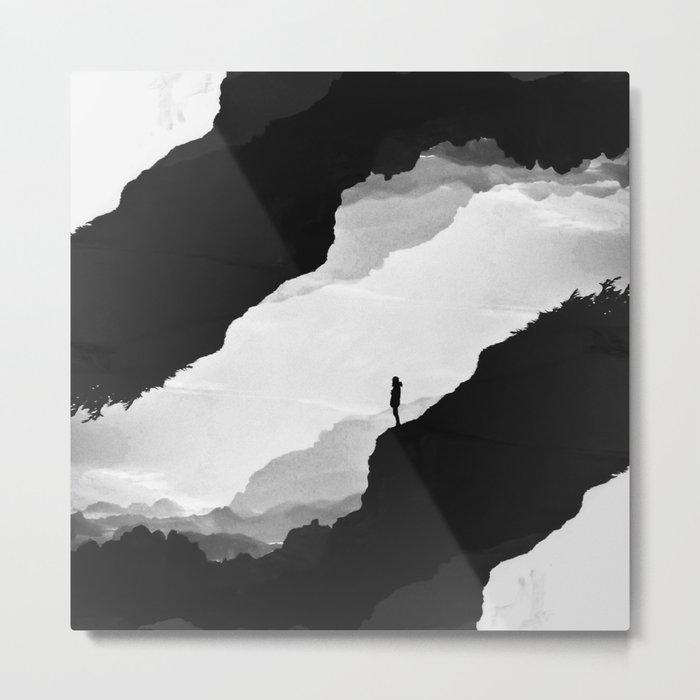 White Isolation Metal Print