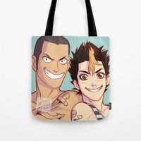 johannathemad Tote Bags featuring anchor bros by JohannaTheMad