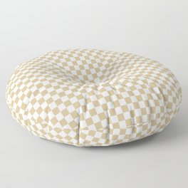 Snow White and Christmas Gold Check Floor Pillow
