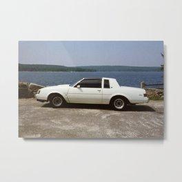 1987 Grand National Regal T-type Turbo in white Metal Print