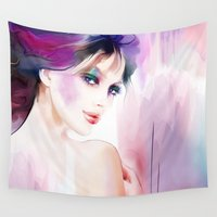 naked Wall Tapestries featuring naked by tatiana-teni