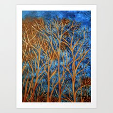 Trees of gold  Art Print