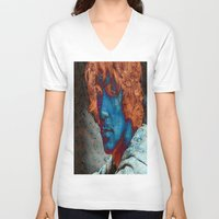 caleb troy V-neck T-shirts featuring Troy by Robin Curtiss