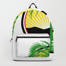 Royal Palm Beach Sea Mountain Retro Backpack