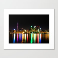 Toronto Skyline Night Canvas Print