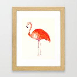 Watercolor Flamingo Framed Art Print
