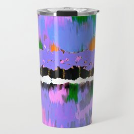 TREES ABSTRACT PINK AND PURPLE OIL PAINTING Travel Mug