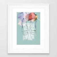 shoes Framed Art Prints featuring shoes by Sabine Israel