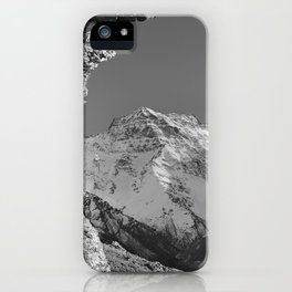 """""""Living at the mountains"""". 3479 meters hight iPhone Case"""