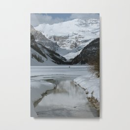 Lake Louise Mountain Reflection Metal Print