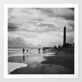 Lighthouse in Maspalomas, Gran Canaria Art Print