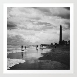 Lighthouse in Maspalomas, Gran Canaria Art Print