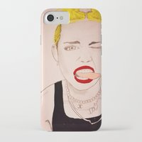 miley cyrus iPhone & iPod Cases featuring Miley Cyrus  by kelsey kolokowski