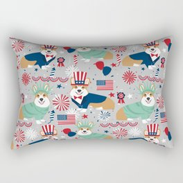 Corgi July 4th patriotic dog breed USA pet friendly custom dog breed pattern Rectangular Pillow