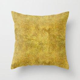 Antique Gold Glitter Throw Pillow