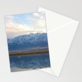 Utah Mountains Mirrored on the Water Stationery Cards