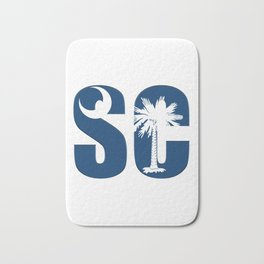 South Carolina SC State Flag Letter product Bath Mat