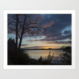 Lake Quinault Sunset, Washington Art Print