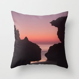 Roche Reefs At Sunset. Throw Pillow