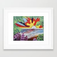 hawaii Framed Art Prints featuring Hawaii by Laura Hol Art